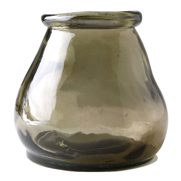 Small Glass Jar - Dark Brown - 100% Recycled Glass Made in Valencia, Spain