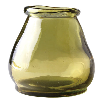 Small Glass Jar - Yellow - 100% Recycled Glass Made in Valencia, Spain