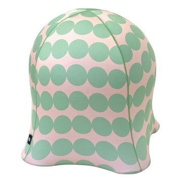 Jellyfish Balance Ball Chair – Coin Dot Green on Pink