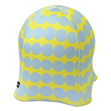 Jellyfish Balance Ball Chair - Coin Dot Blue on Yellow
