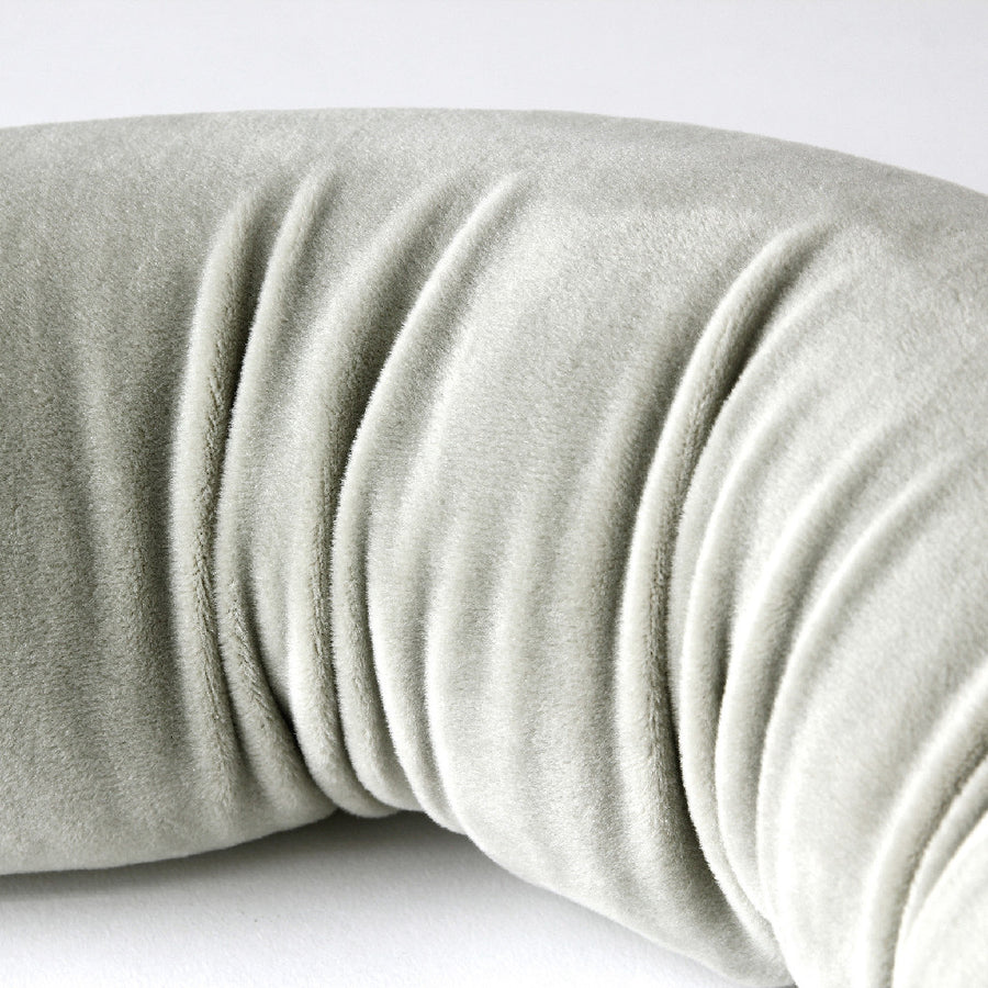 Mobile Pillow with Smartphone Holder - Grey |  Micro Foam Beads Cushion