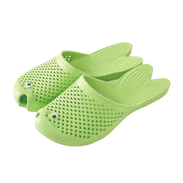 Fish Sandals - Mint - Soft EVA Slippers for Adults (size:women's 7~9)