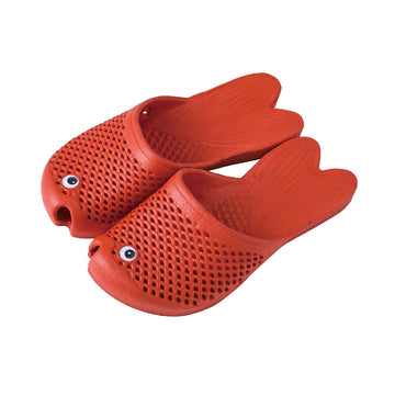 Fish Sandals - Red - Soft EVA Slippers for Kids (size: 11 1/2 ~ 1)
