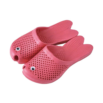 Fish Sandals - Punch Pink - Soft EVA Slippers for Kids (size: 11 1/2 ~ 1)