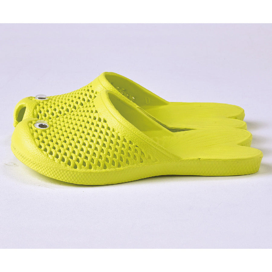 Fish Sandals - Yellow - Soft EVA Slippers for Kids (size: 11 1/2 ~ 1)