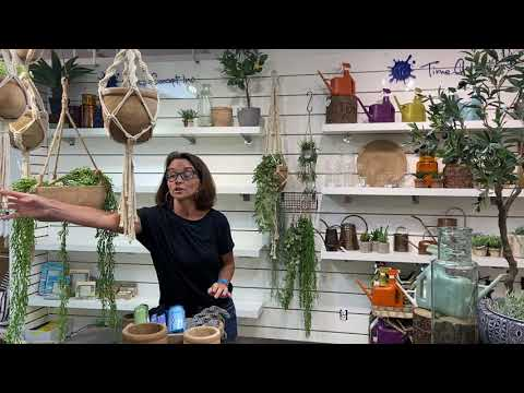 Macrame Plant Pot Hanger - Khaki - Indoor/Outdoor Use (POT NOT INCLUDED)