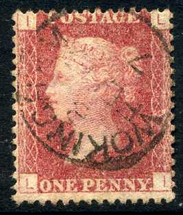 "1858-79 1d Rose-red plate 139 lettered LI. A very fine used example with ""Wokingham"" CDS."