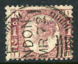 "1870 ½d Rose-red plate 1 lettered IT. A very fine used example with ""London"" CDS dated March, 1872. Difficult plate!"