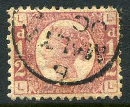 "1870 ½d Rose-red plate 8 lettered LL. A very fine used example with ""Malta"" CDS. 1872. Difficult plate!"