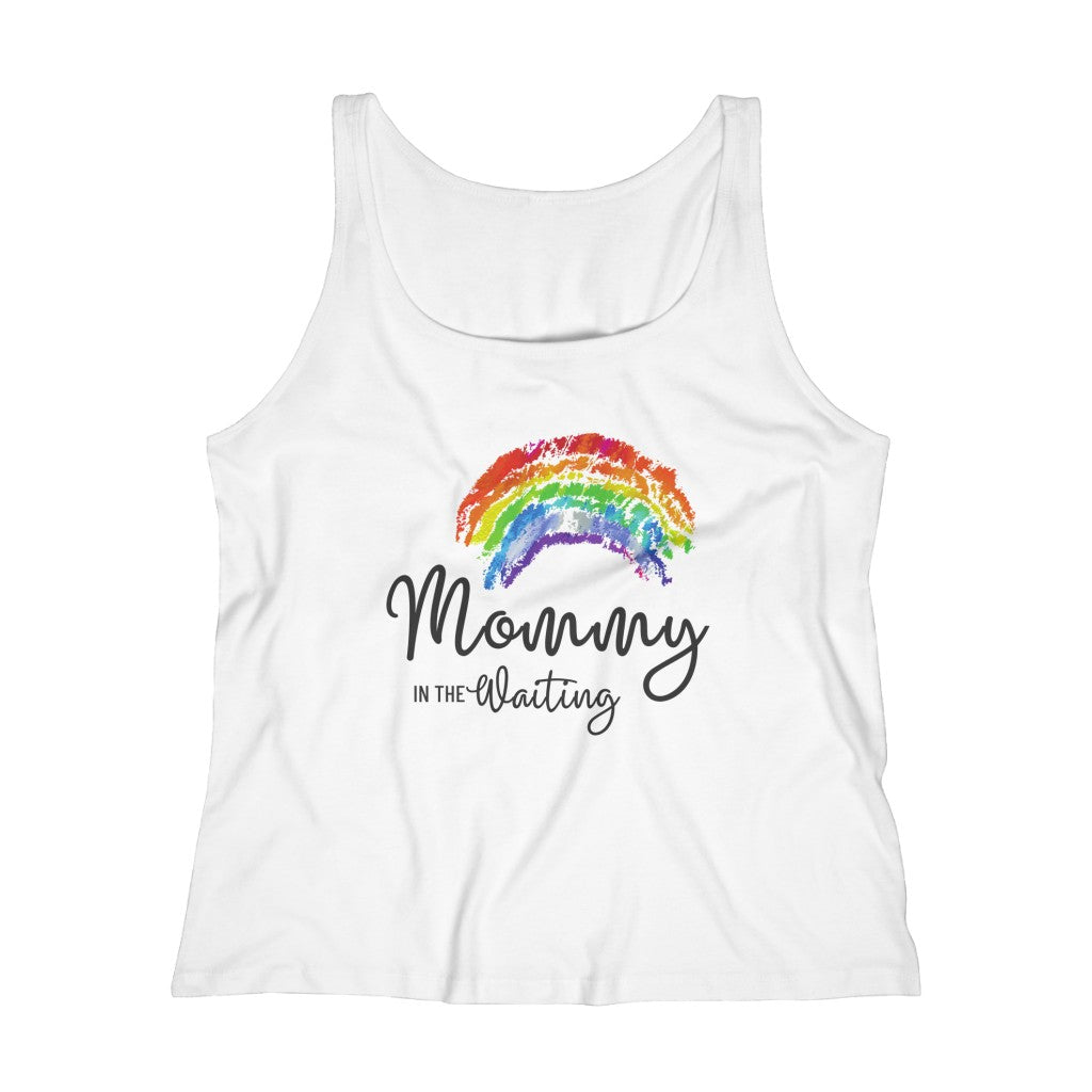Mommy in the Waiting (Rainbow) - Light Hormone Puzzle™ Women's Relaxed Jersey Tank Top