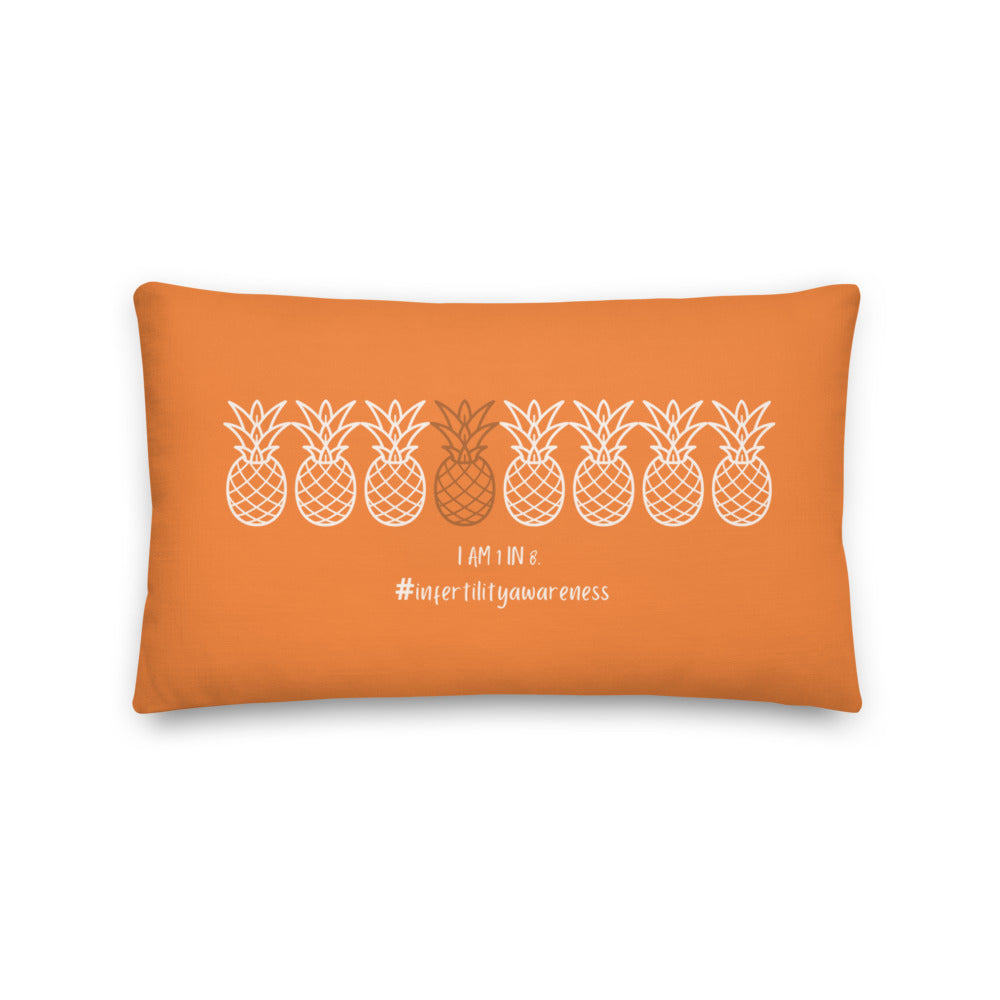 I am 1 in 8 (Pineapple Design) Premium Pillow
