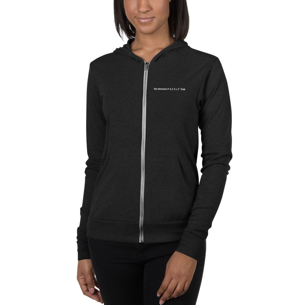Mommy  in the Waiting - Dark Hormone Puzzle™ Unisex Zip Hoodie