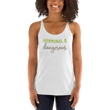 Load image into Gallery viewer, Hormonal & Dangerous - Light Hormone Puzzle™ Women's Racerback Tank