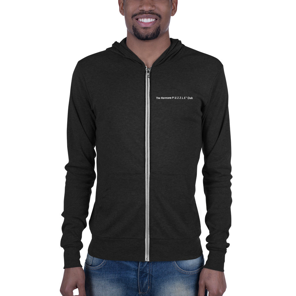 Daddy in the Waiting - Dark Hormone Puzzle™ Unisex zip hoodie