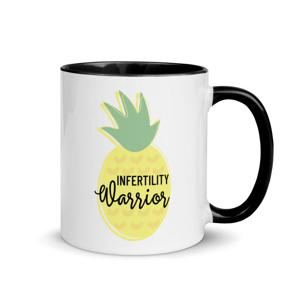 Infertility Warrior ( Pineapple) - Hormone Puzzle™ Mug with Color Inside