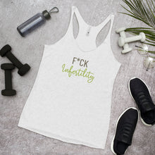 Load image into Gallery viewer, F*ck Infertility - Light Hormone Puzzle™ Women's Racerback Tank