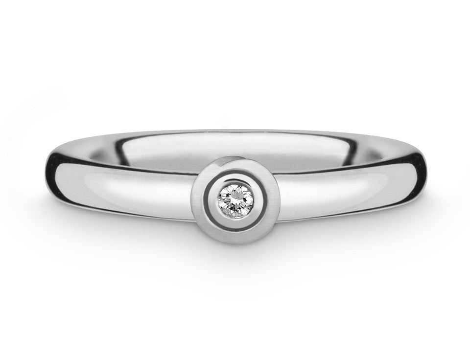 Silberring mit Brilliant 0,03 ct