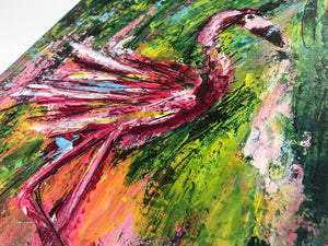 #12 art christmas calendar: That's one crazy pink bird