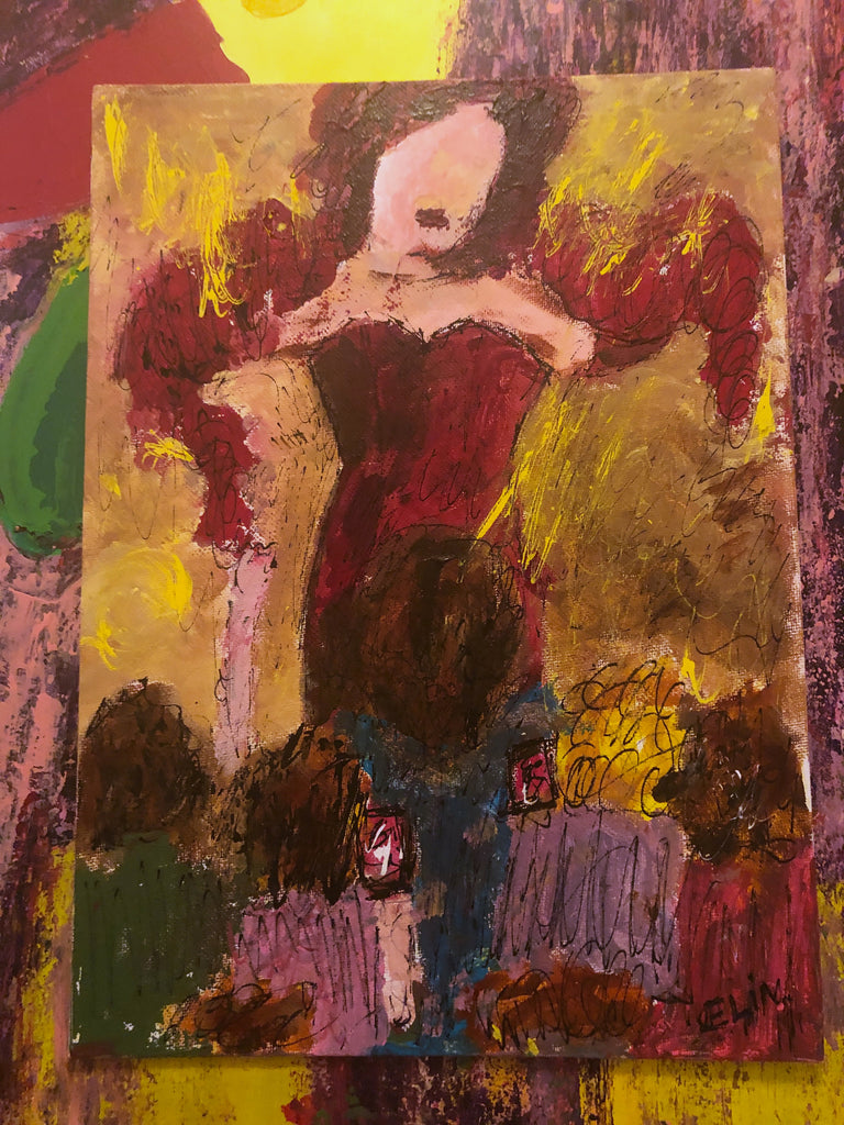 Showgirl painting