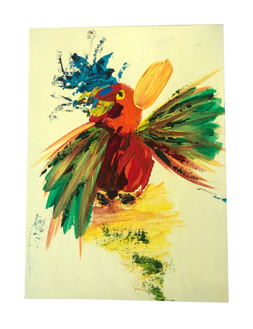 Colourful bird painting ART ORIGINAL