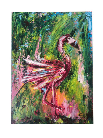Flamingo painting ART ORIGINAL