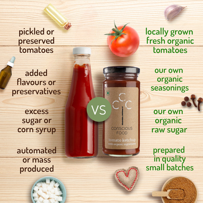 Tomato Ketchup: Mass-Produced vs. Local by Conscious Food
