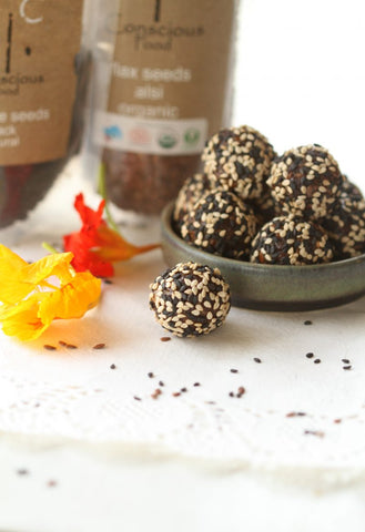 date and sesame energy balls
