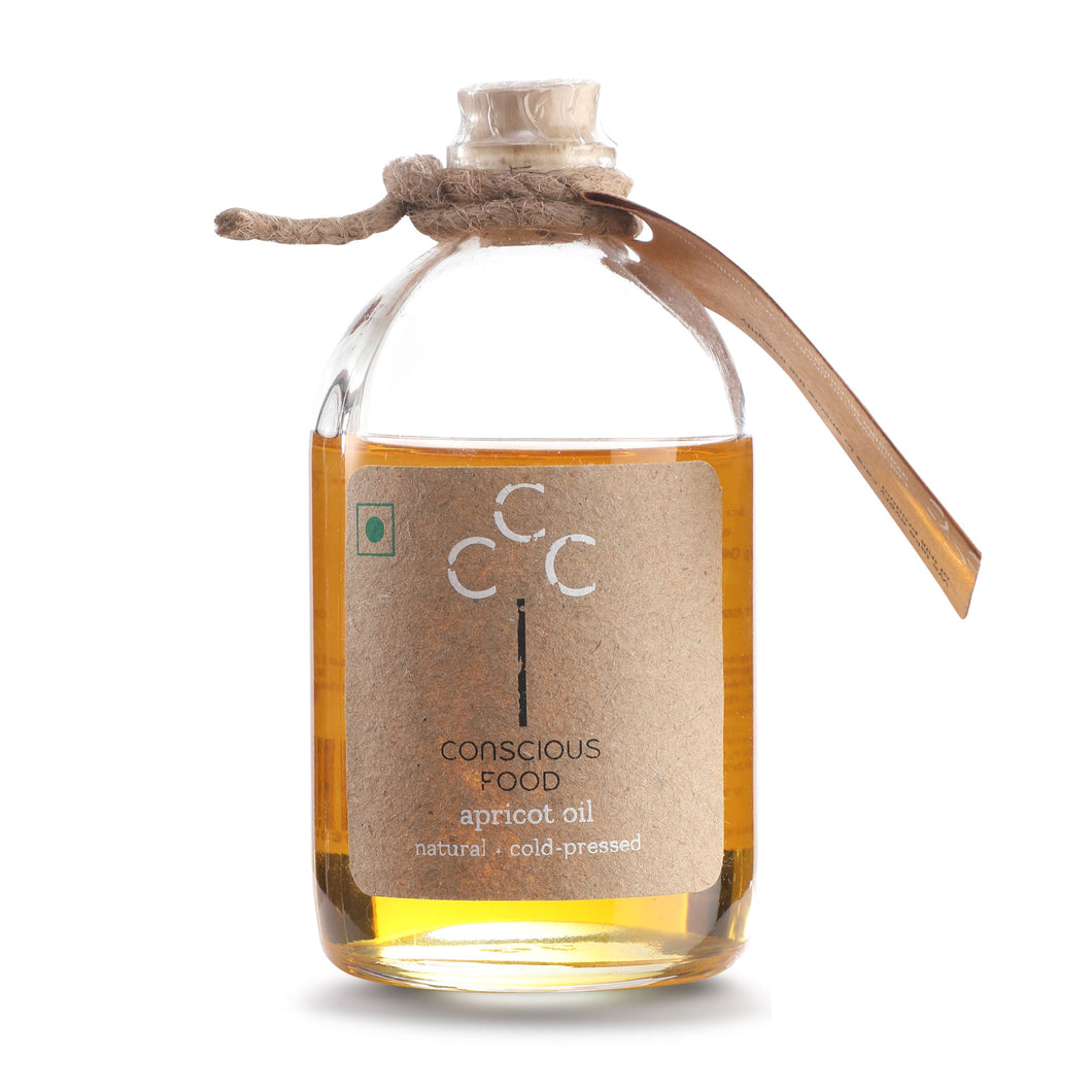 Apricot Oil - Organic Cold Pressed Oil - Conscious Food Pvt Ltd