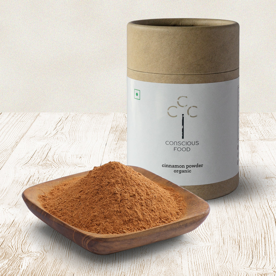Wellness Organic Cinnamon Powder - Iron Pounded - Conscious Food Pvt Ltd