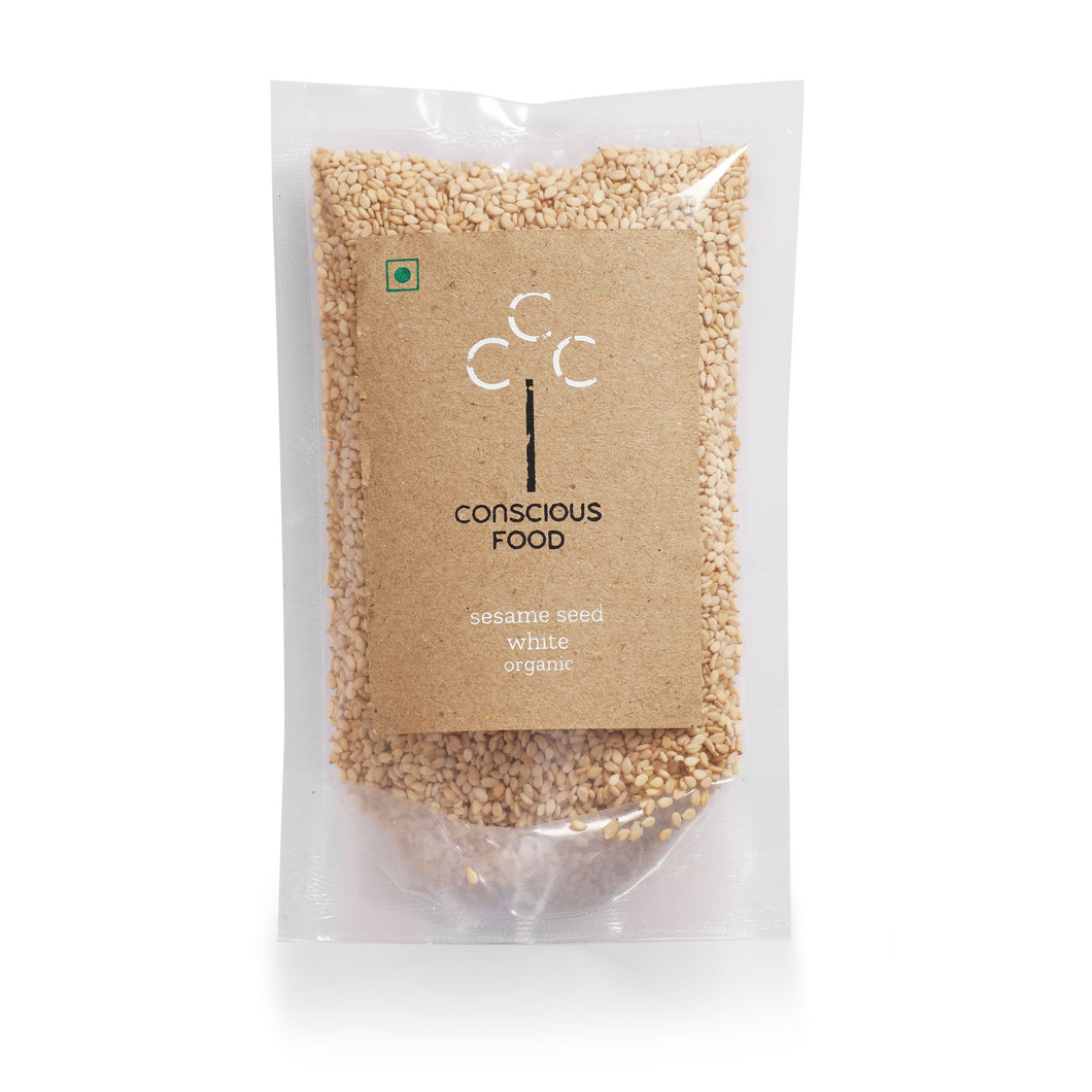 White Sesame (Til) Seeds - Conscious Food Pvt Ltd