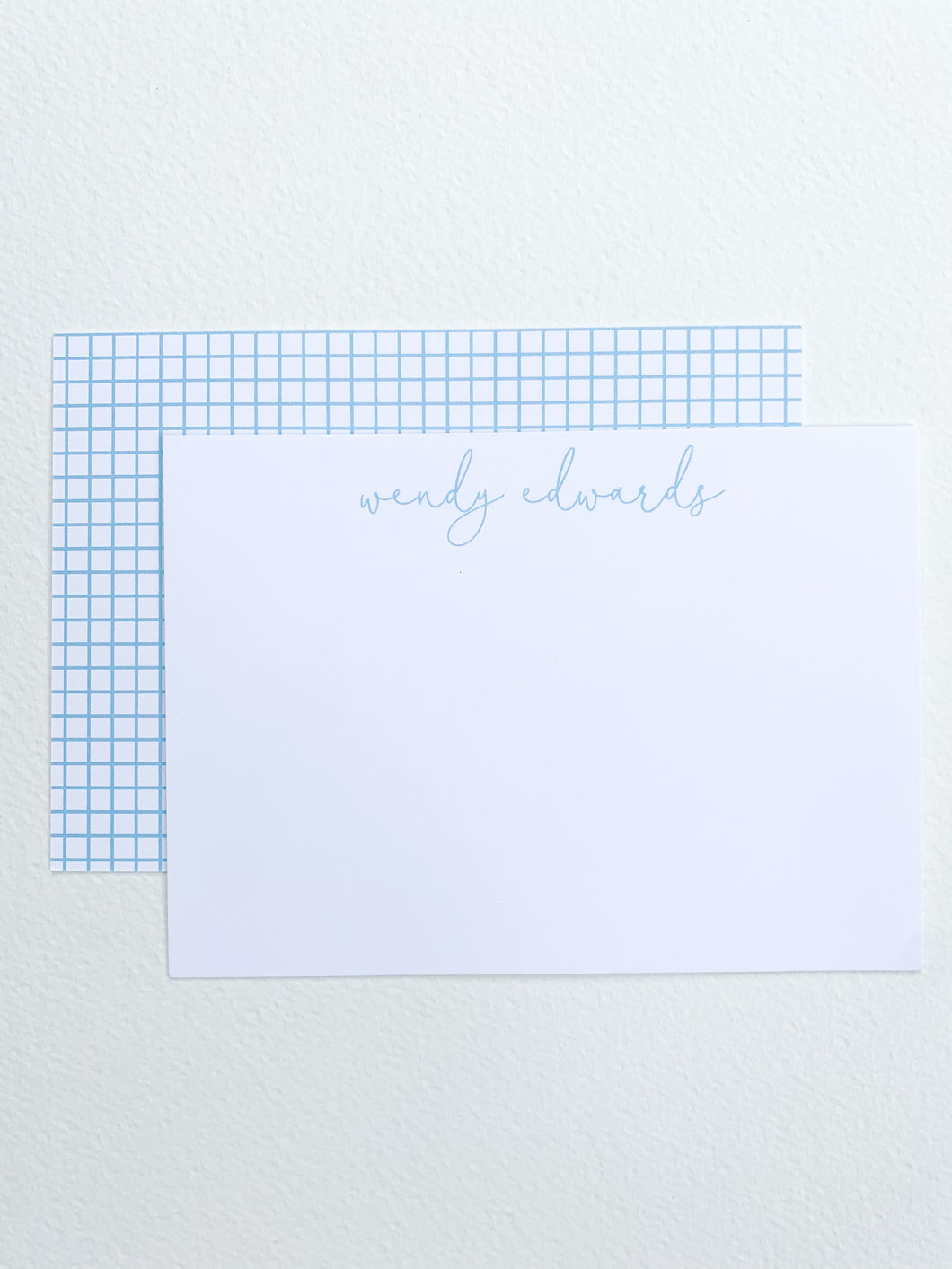 SIMPLE CHECK STATIONERY SET