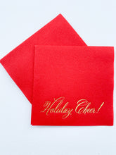 Load image into Gallery viewer, HOLIDAY CHEER COCKTAIL NAPKIN