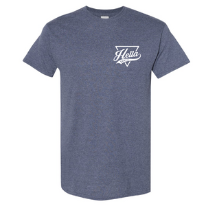 Signature Hella Shirt Co. Heather Navy - Hella Shirt Co.