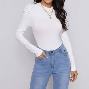 Puff Sleeve Cozy Top - Flamour.ro