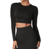 Matte Black Crop Top