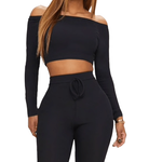 Black Off Shoulder Top - Flamour.ro