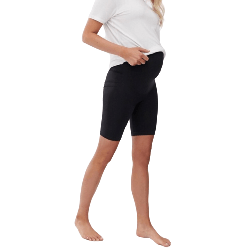 Maternity Shiny Biker Shorts - Flamour.ro