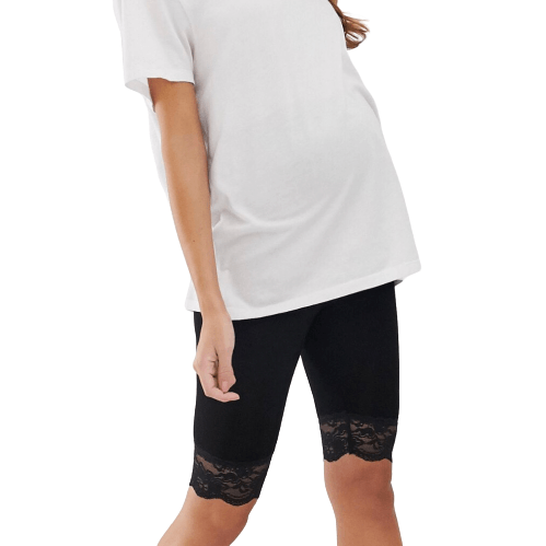 Maternity Lace Biker Shorts - Flamour.ro