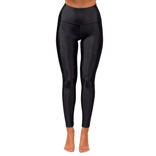 Black High Waisted Leggings - Flamour.ro