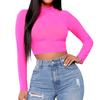 Fuchsia Pink Crop Top - Flamour.ro
