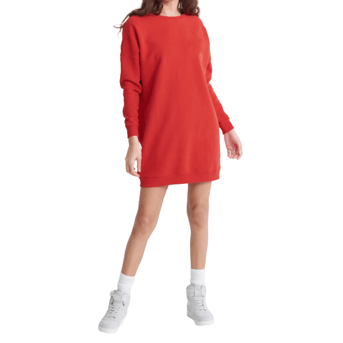 Soft Red Sweat Dress