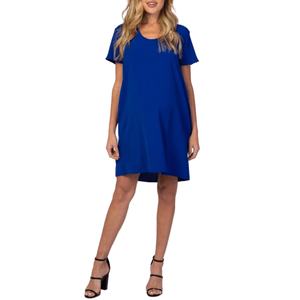 Maternity Blue Dress - Flamour.ro