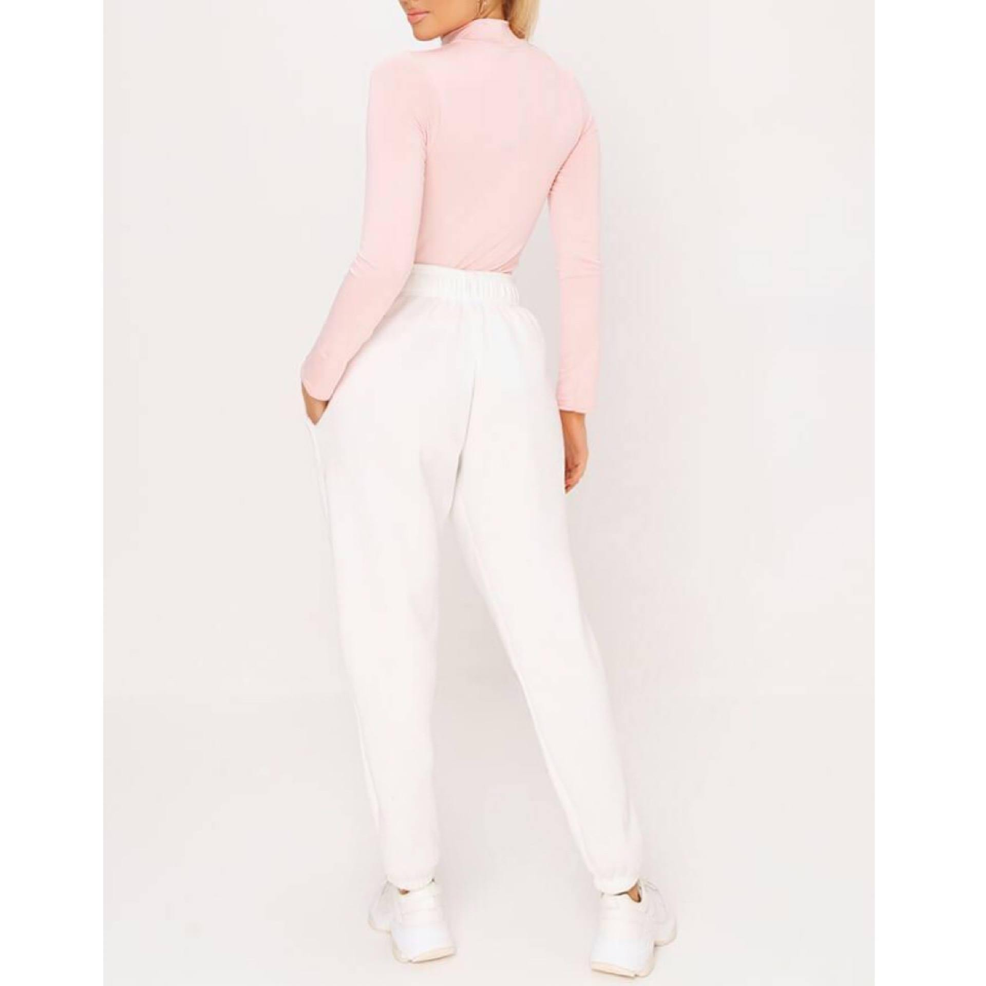 Baby Pink Turtleneck Top - Flamour.ro