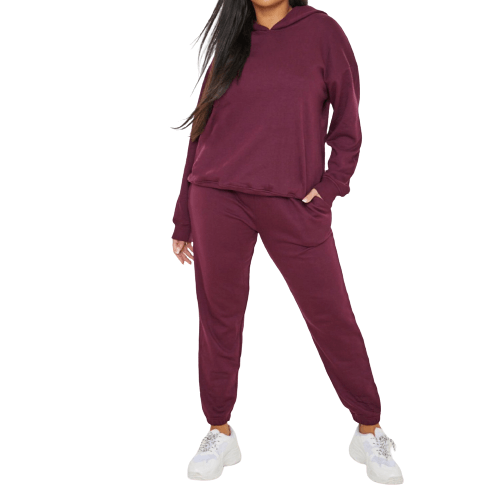 Burgundy Tracksuit - Flamour.ro