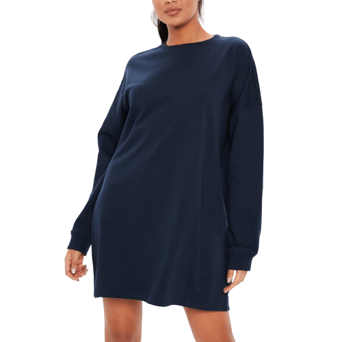 Navy Sweat Dress - Flamour.ro