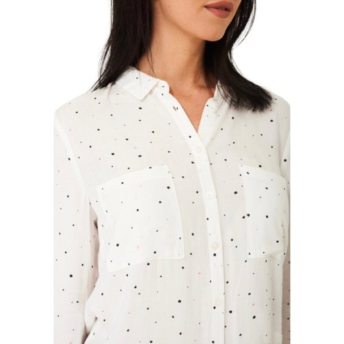 Pink & Navy Dots Shirt