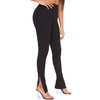 Black Slit Leggings - Flamour.ro