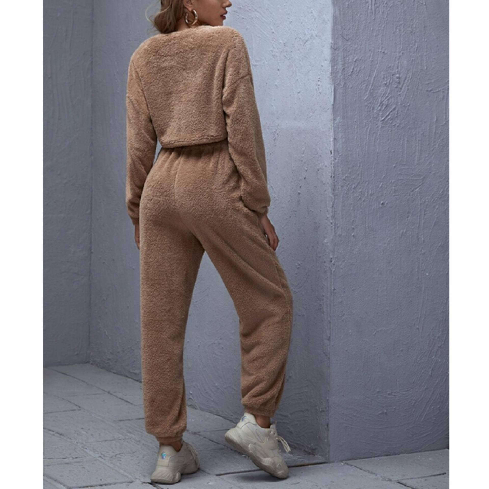 Teddy Bear Fluffy Tracksuit - Flamour.ro