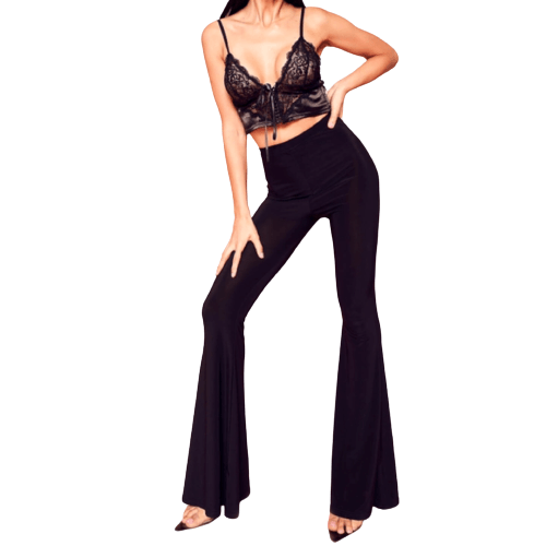 Wide Leg High Waist Pants - Flamour.ro