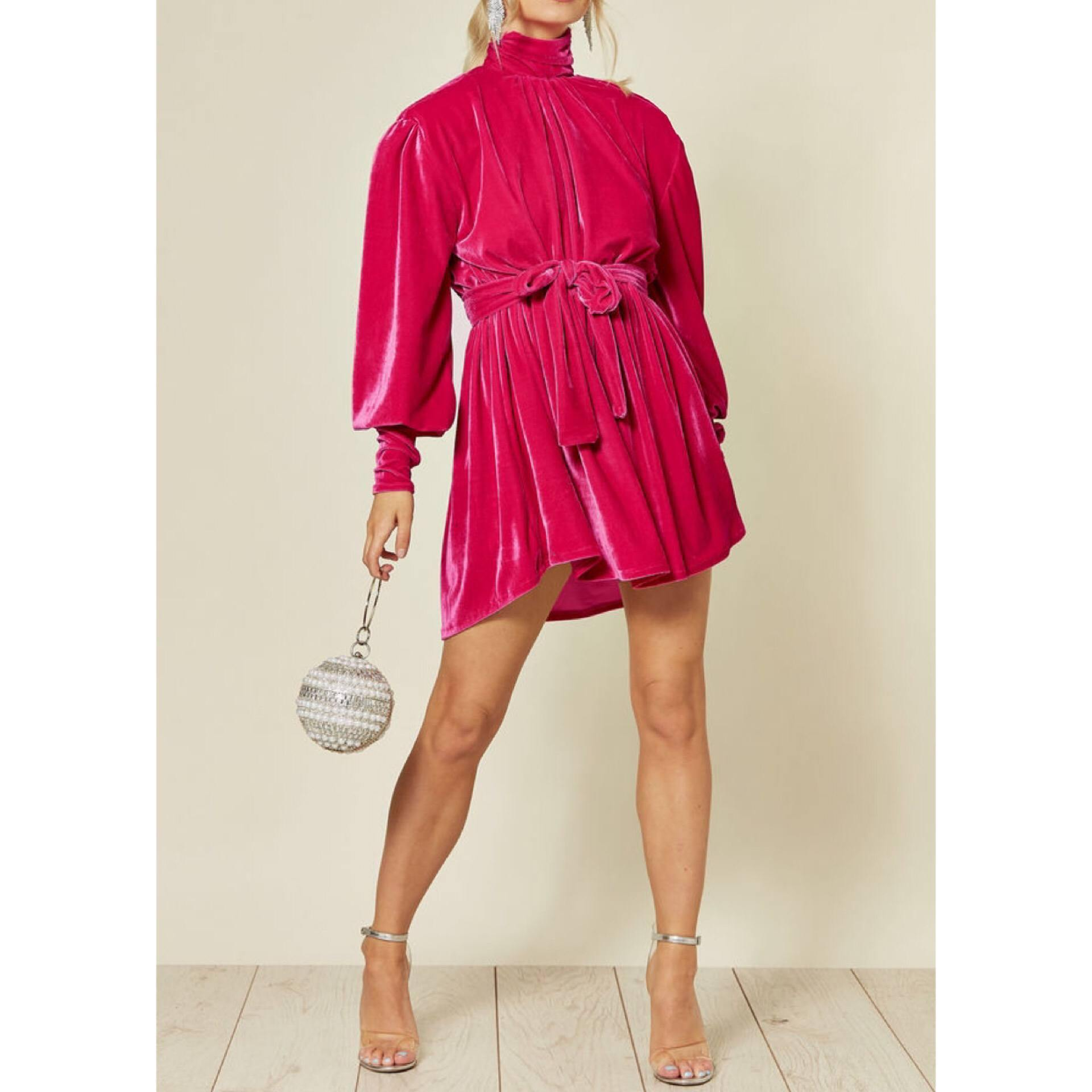 Alena Velvet Dress - Flamour.ro